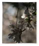 Cherry Tree Blossom Macro Fleece Blanket