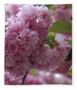Cherry Tree Blossoms Fleece Blanket