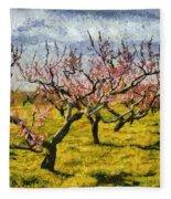 Cherry Trees 3.0 Fleece Blanket