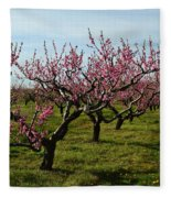Cherry Trees Fleece Blanket