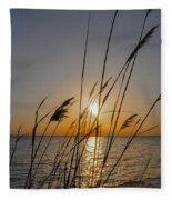 Chesapeak Bay At Sunrise Fleece Blanket