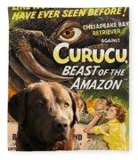 Chesapeake Bay Retriever Art - Curucu Movie Poster Fleece Blanket