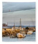 Chesapeake Fishing Boats Fleece Blanket
