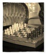 Chess Game Fleece Blanket