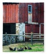 Chester County Chickens Fleece Blanket
