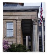 Chester County Court House-side View Fleece Blanket