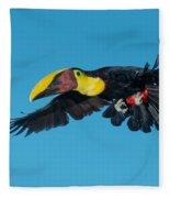 Chestnut-mandibled Toucan Flying Fleece Blanket