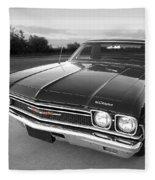 Chevrolet El Camino In Black And White Fleece Blanket