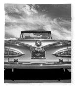 Chevrolet Impala 1959 In Black And White Fleece Blanket