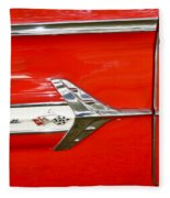 Chevrolet Impala Classic In Red Fleece Blanket