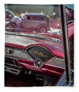 Chevy Bel Air Dash Fleece Blanket
