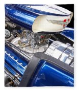 Chevy Hot Rod Engine Fleece Blanket