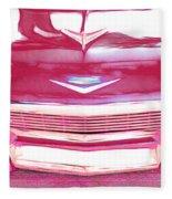 Chevy - Red Fleece Blanket