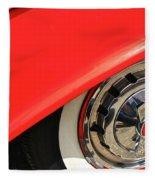 1955 Chevy Rim Fleece Blanket