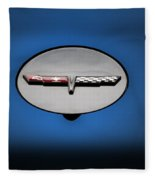 Chevy Vet Gas Cap Emblem Fleece Blanket