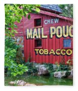 Chew Mail Pouch Tobacco  Fleece Blanket