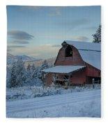 Chewelah Barn Fleece Blanket