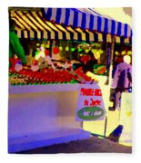 Chez Nino At Marche Jean Talon Montreal A Taste Of Culinary Culture  Food Art Scenes Carole Spandau  Fleece Blanket