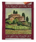 Chianti And Friends Collage 1 Fleece Blanket