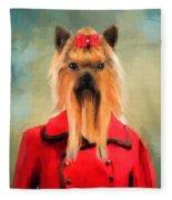 Chic Yorkshire Terrier Fleece Blanket