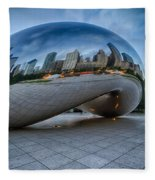 Chicago - Cloudgate Reflections Fleece Blanket