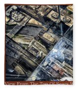Chicago A View From The Top Of Sears Willis Tower Hdr Triptych 3 Panel Fleece Blanket