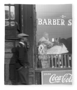 Chicago Barber Shop, 1941 Fleece Blanket