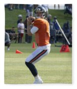 Chicago Bears Qb Jimmy Clausen Training Camp 2014 03 Fleece Blanket