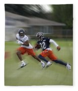 Chicago Bears Rb Michael Ford Moving The Ball Training Camp 2014 Fleece Blanket