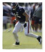 Chicago Bears Te Zach Miller Training Camp 2014 03 Fleece Blanket