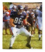 Chicago Bears Te Zach Miller Training Camp 2014 Pa 02 Fleece Blanket