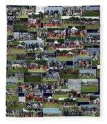 Chicago Bears Training Camp 2014 Collage The Players Fleece Blanket