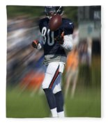 Chicago Bears Wr Armanti Edwards Moving The Ball Training Camp 2014 Fleece Blanket