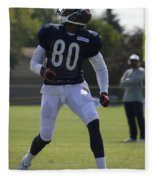 Chicago Bears Wr Armanti Edwards Training Camp 2014 03 Fleece Blanket