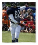 Chicago Bears Wr Chris Williams Training Camp 2014 04 Fleece Blanket