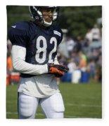 Chicago Bears Wr Chris Williams Training Camp 2014 05 Fleece Blanket
