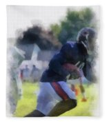 Chicago Bears Wr Micheal Spurlock Training Camp 2014 04 Pa 01 Fleece Blanket