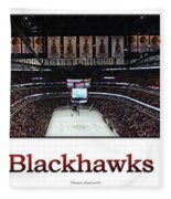 Chicago Blackhawks At Home Panorama White Fleece Blanket