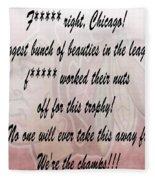Chicago Blackhawks Crawford's Speech Fleece Blanket
