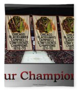 Chicago Blackhawks Our Champions Sb Fleece Blanket