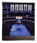 Chicago Blackhawks Please Stand Up With Red Text Sb Fleece Blanket