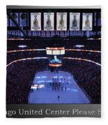 Chicago Blackhawks Please Stand Up With White Text Sb Fleece Blanket