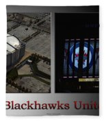 Chicago Blackhawks United Center 2 Panel Sb Fleece Blanket