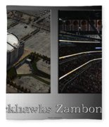 Chicago Blackhawks Zamboni Break Time 2 Panel Sb Fleece Blanket