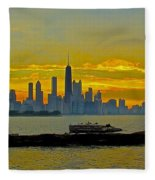 Chicago Breakwater Fleece Blanket