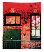 Chicago Brick Facade 21st. Century Fleece Blanket