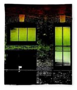 Chicago Brick Facade Glow Fleece Blanket