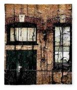 Chicago Brick Facade Grunge Fleece Blanket