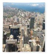 Chicago Buildings Fleece Blanket