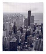 Chicago Bw Fleece Blanket